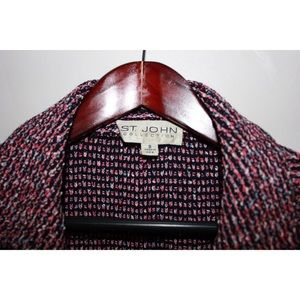 St. John Jackets & Coats - St. John Pink&Black Tweed Knit With Lucite Buttons